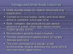 cottage and small scale industries