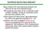and which sectors were affected93