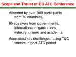 scope and thrust of eu atc conference