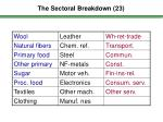 the sectoral breakdown 2 3