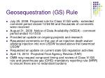 geosequestration gs rule
