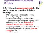 high performance sustainable buildings