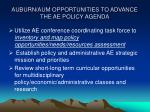 auburn aum opportunities to advance the ae policy agenda