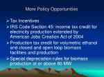 more policy opportunities13