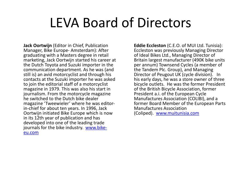 LEVA Board of Directors