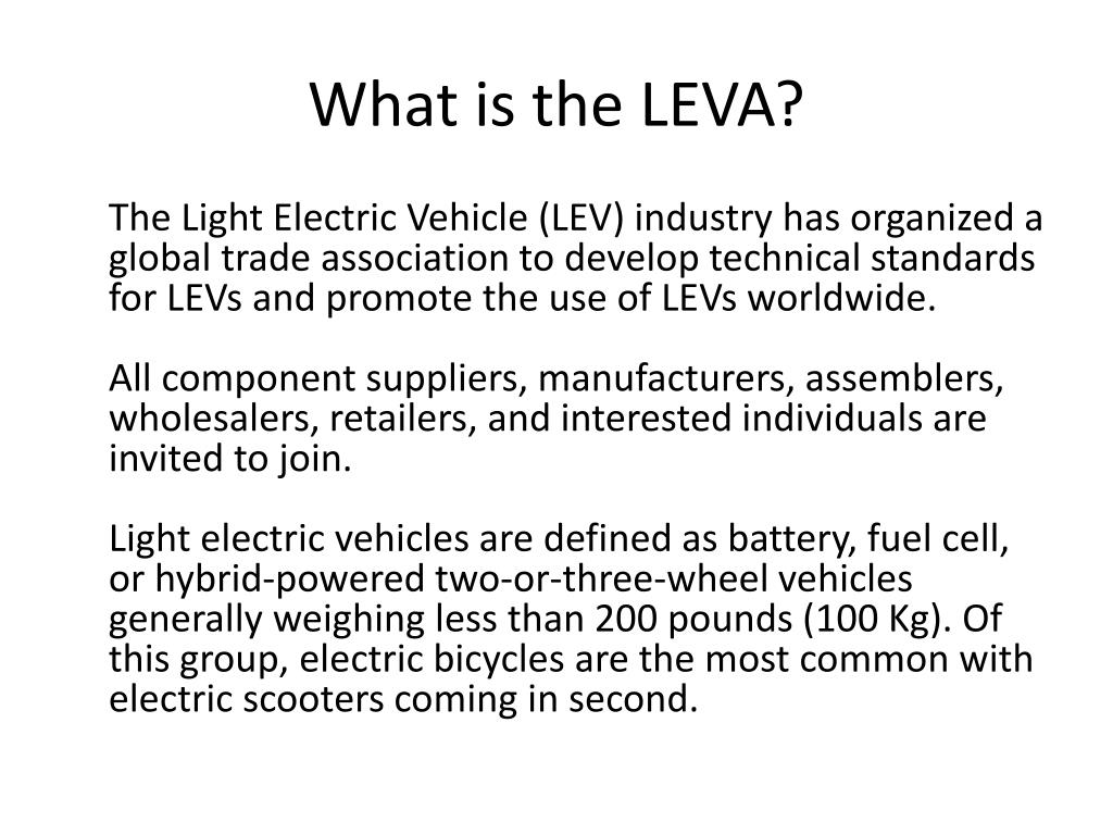 What is the LEVA?