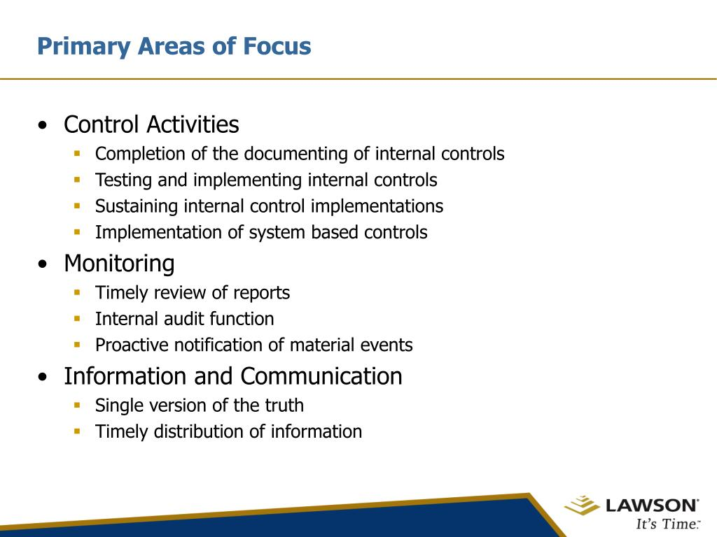 Primary Areas of Focus