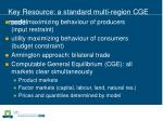 key resource a standard multi region cge model