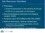 key resources data base