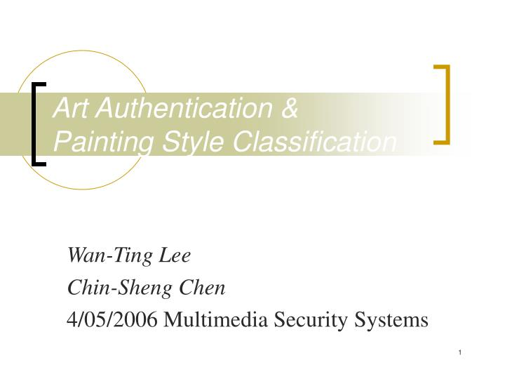 art authentication painting style classification n.
