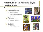 introduction to painting style and authors