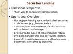 securities lending