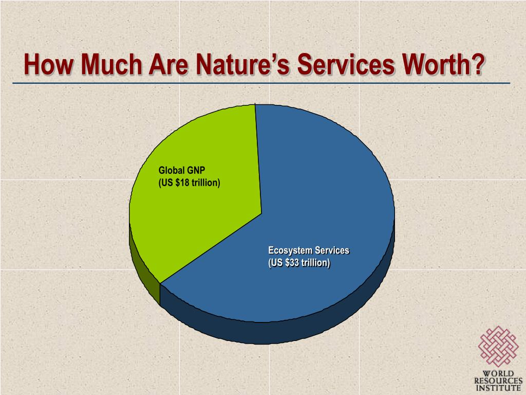 How Much Are Nature's Services Worth?