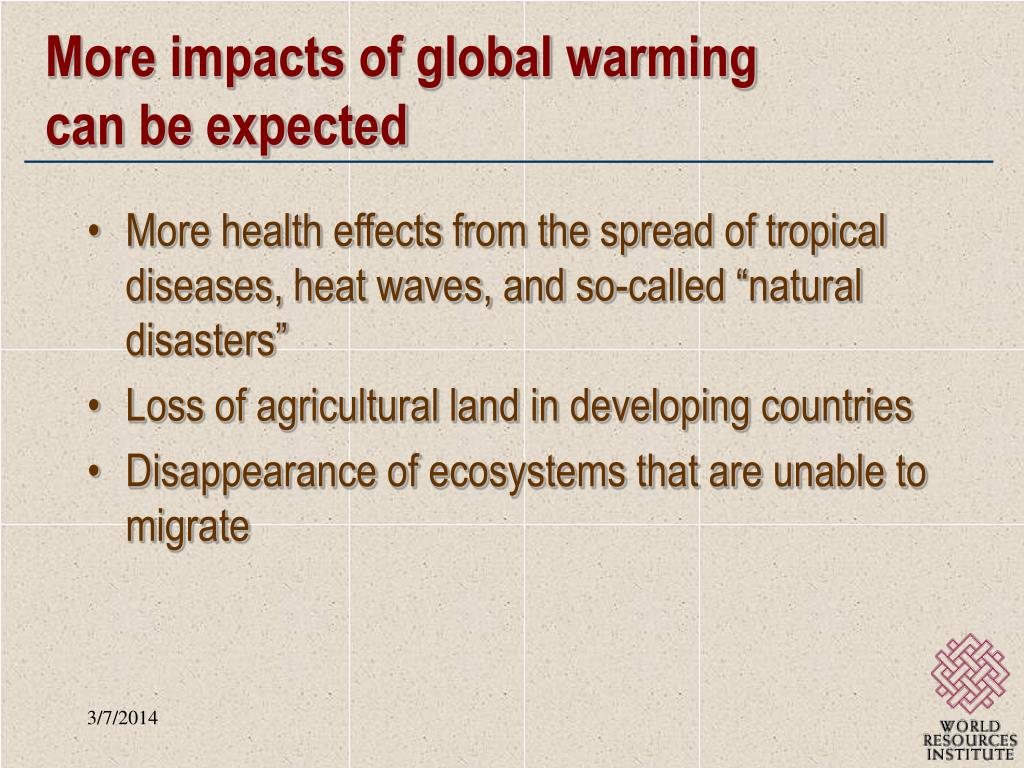 More impacts of global warming