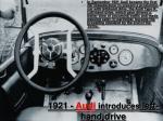 1921 audi introduces left hand drive