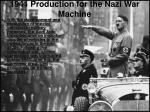 1941 production for the nazi war machine