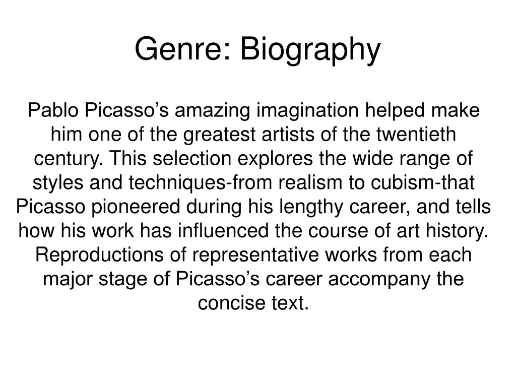 Pablo Picasso's amazing imagination helped make him one of the greatest artists of the twentieth century. This selection explores the wide range of styles and techniques-from realism to cubism-that Picasso pioneered during his lengthy career, and tells how his work has influenced the course of art history. Reproductions of representative works from each major stage of Picasso's career accompany the concise text.