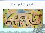 klee s painting style