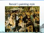 renoir s painting style