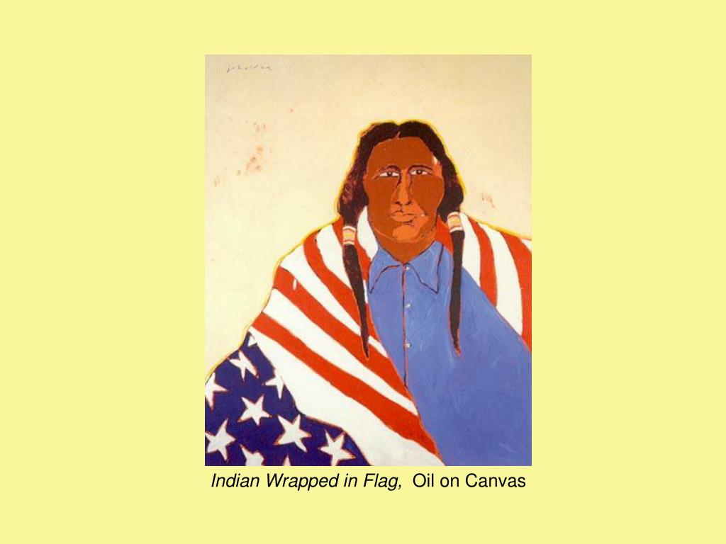 Indian Wrapped in Flag,
