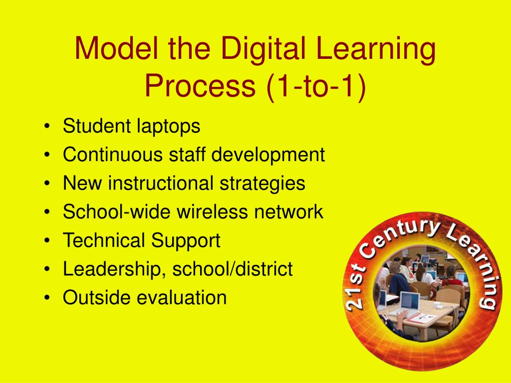 Model the Digital Learning Process (1-to-1)