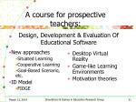 a course for prospective teachers