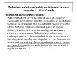modernize capabilities of public institutions to be more responsive to citizens needs