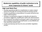 modernize capabilities of public institutions to be more responsive to citizens needs10