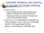 automatic modeling and learning of concepts for image indexing