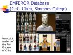 emperor database c c chen simmons college