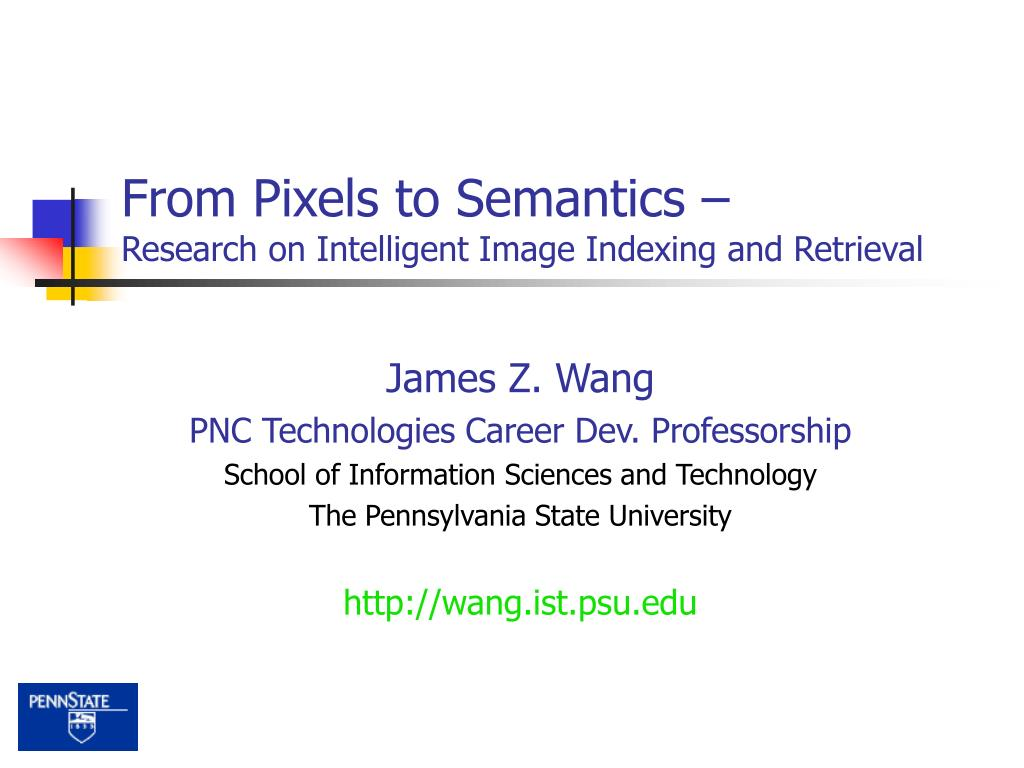 from pixels to semantics research on intelligent image indexing and retrieval l.