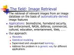 the field image retrieval