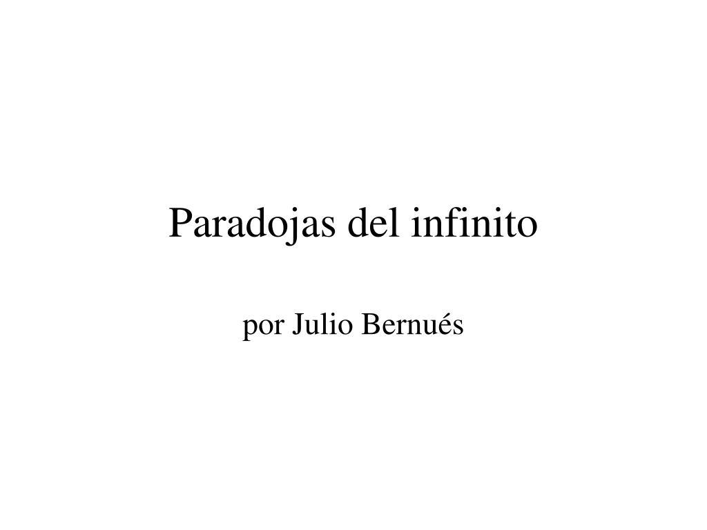 paradojas del infinito l.
