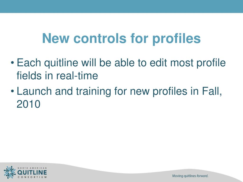 New controls for profiles