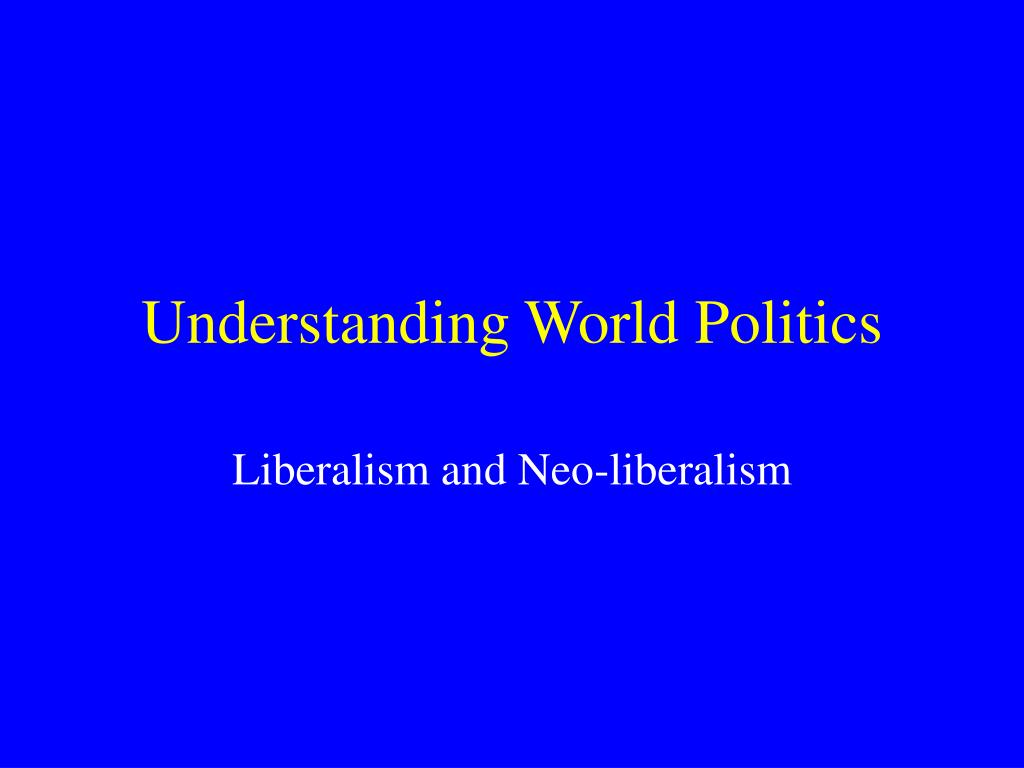 understanding world politics l.