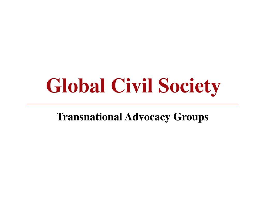 global civil society l.
