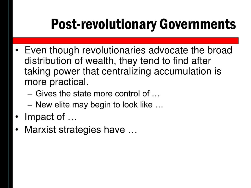 Post-revolutionary Governments