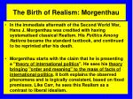 the birth of realism morgenthau