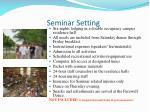 seminar setting
