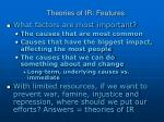 theories of ir features4