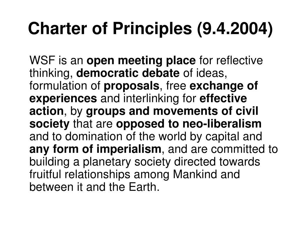 Charter of Principles (9.4.2004)