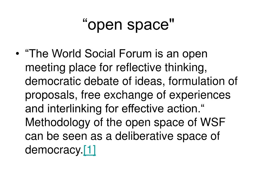 """""""open space"""""""