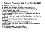 thematic areas and sub areas mumbai 2004