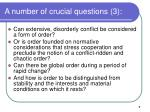 a number of crucial questions 3