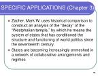 specific applications chapter 3