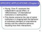 specific applications chapter 6