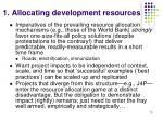 1 allocating development resources15