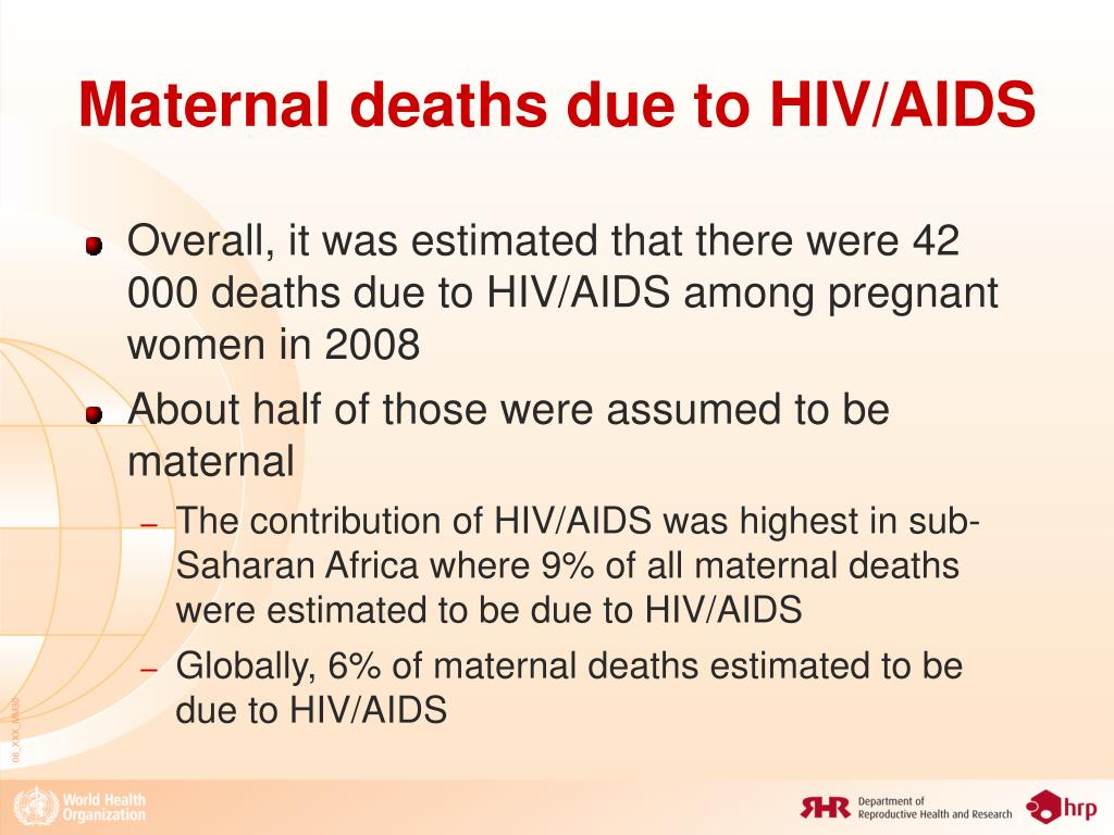 Maternal deaths due to HIV/AIDS