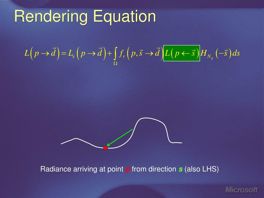 Rendering Equation