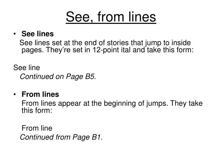 See from lines